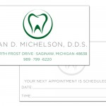 Dr. Michelson, D.D.S. business card