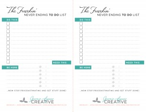 Download! It's yours...FREE! Now get to work on that to-do list!