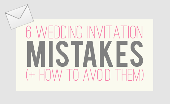 WEDDING INVITATION MISTAKES How to Avoid Them Jamie Lynne Creative